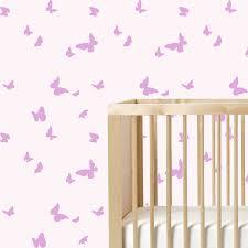 butterfly wall stencil repeat pattern nursery stencil paint