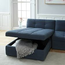 Sectional With Ottoman Plateau 3 Storage Chaise Sectional W Ottoman West Elm