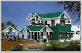 House Plans Green Modern 2600 Sqft Slop Roof House Design House Plans Pinterest