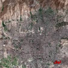 tehran satellite map tehran maps