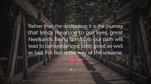 inspirational quote journey amish tripathi quote u201crather than the destination it is the