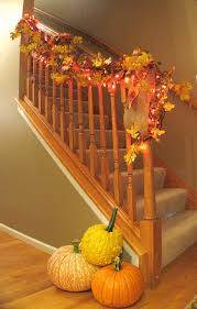 Banister Garland Ideas 35 Cozy Fall Staircase Décor Ideas Digsdigs