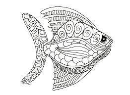 fish zentangle step 1 by olivier animal coloring pages for kids