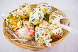 Decorating Easter Eggs Decoupage by Group Of Colorful Easter Eggs Decorated With Flowers Made By