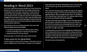 reading in word 2013 office blogs