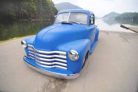 Light Blue Paint by Chev Chevrolet Chevy Advanced Design Pickup Truck In A Beautiful