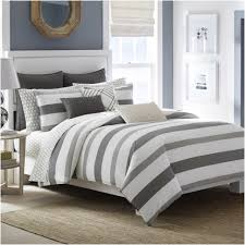 comforters ideas amazing gray and white striped comforter fresh