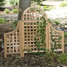andover 5 ft cedar wood arch trellis hayneedle