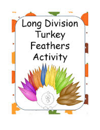 division turkey feathers activity for thanksgiving by math with