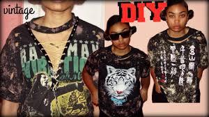 Distressing Diy by Diy Distressed U0026 Bleached T Shirt Fashion Youtube