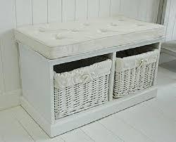 Bathroom Bench With Storage Bathroom Bench White Wicker With Regard To Storage Ideas Best