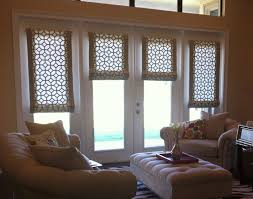 Blinds For Sidelights New Ideas French Blinds With Custom Roman Shades On French Doors