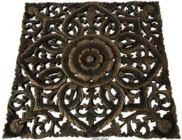 carved wood wall plaques unique floral wood wall