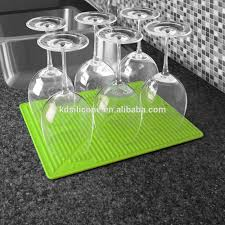 purple silicone dish drying mat easy clean folding silicon