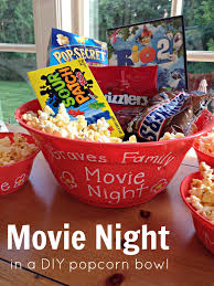 halloween popcorn gifts we heart parties blog family movie night in a diy popcorn bowl