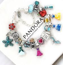 ebay charm bracelet silver images Pandora bracelet disney 925 silver princess dress crown european jpg