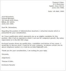 sample cover letter for administrative position administration