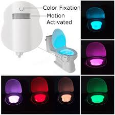 8 color motion activated led toilet sensor night light bowl