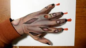 drawing a zombie hand cool painting idea for halloween youtube