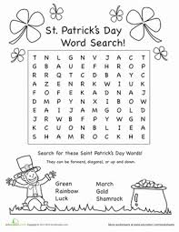 best ideas of st patrick day worksheets on job summary huanyii com