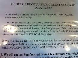 car rentals that accept prepaid debit cards car rental without credit card here s the secret