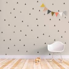 Wall Decals Baby Nursery Triangle Wall Decal Baby Wall Decal Removable Stickers
