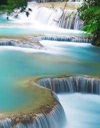 kung si thailand waterfall wall mural 6041