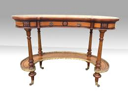 Kidney Shaped Writing Desk Gillows Kidney Shaped Burr Walnut And Satinwood Inlaid Writing