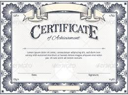 blank certificate templates for word award certificate template
