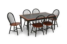 Seater Kitchen Dining Set Kitchen Table  Chairs Black Tile Top - Tile top kitchen table and chairs