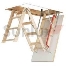 optistep wooden timber folding loft ladder attic stairs frame