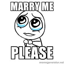 O Meme Face - marry me please meme face