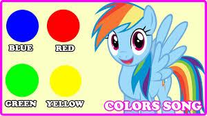 pony colors song mlp songs nursery rhymes children
