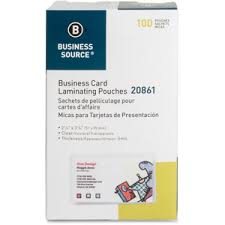 business card laminator business source business card laminating pouch bsn20861