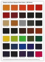 urekem 400 series color chart color card of opaque and semi