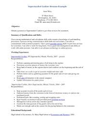 Example Of Education On Resume by Resume Sample For Cashier At A Supermarket Free Resume Example