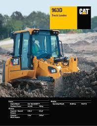 963d track loader caterpillar equipment pdf catalogue