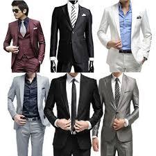men set qoo10 men dress suit blazer business set leisure suit