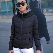 ladies fashion down coat autumn winter jacket women outerwear