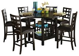 homelegance glendine counter height table w lazy susan in dark