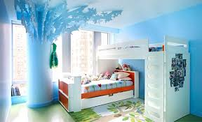 bedroom blue wall ceiling ornament photo college white ladder bed