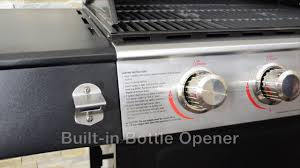 backyard grill stainless steel 4 burner gas grill by14 101 001 02