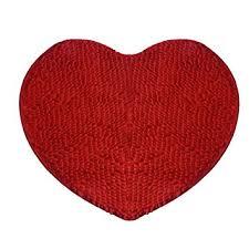Bathroom Area Rug Amazon Com Bathroom Rugs Heart Shaped Decoration Rug Red Area
