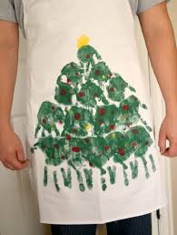 handprint christmas tree apron handprint christmas tree apron