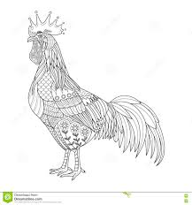 chicken stylized for coloring book for rooster tattoo t