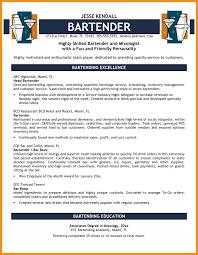 resume exles for bartender 10000 cv and resume sles with free bartender