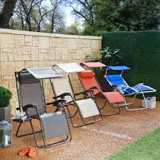 Zero Gravity Lounge Chair With Sunshade Zero Gravity Lounger With Sunshade And Drink Tray