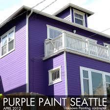 purple house paint