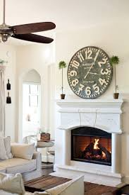 oversized clocks cottage by the pond home tour living room pinterest clocks