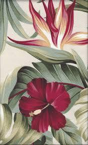 Tropical Upholstery Puahi Natural A Tropical Botanical Vintage Style Hawaiian Fabric